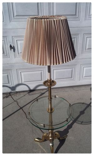 Vintage Brass and Glass Stiffel Table Floor Lamp for Sale in Monrovia, CA