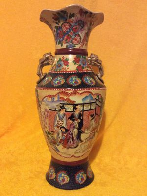 """Japanese Moriage Vase 18"""" Tall for Sale in Bauxite, AR"""