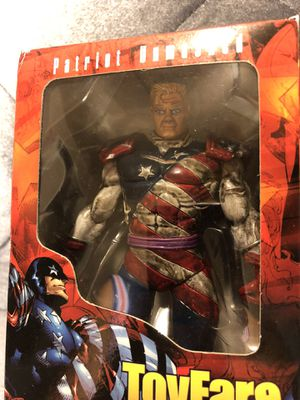 "New Toyfare Exclusive Rising Stars PATRIOT UNMASKED 6"" Action Figure NIB for Sale in Fresno, CA"