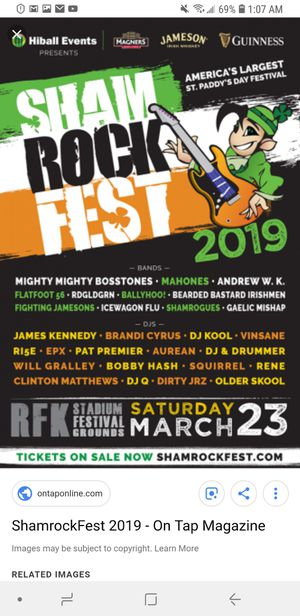 Free 4 pack of shamrock tickets for tomorrow for Sale in Germantown, MD