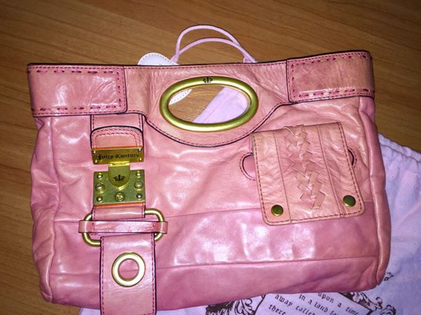 Juicy Couture Pink Leather Handbag