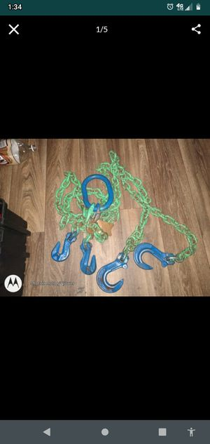 Cartec J-hook tow-chains rated 10.000 lbs. for Sale in Mesa, AZ