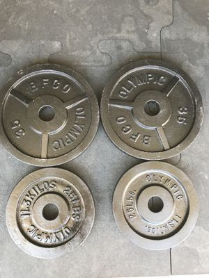 Olympic weights (2x35s 2x25s) for $80 Firm!!! for Sale in Burbank, CA