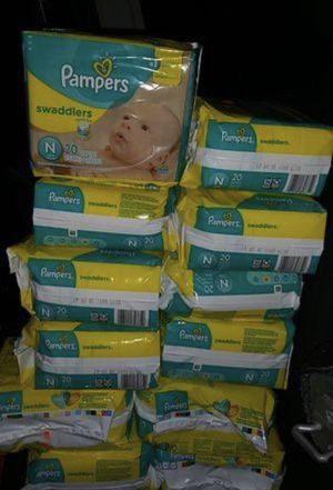 Pampers Swaddlers Size NEWBORN case for Sale in Katy, TX
