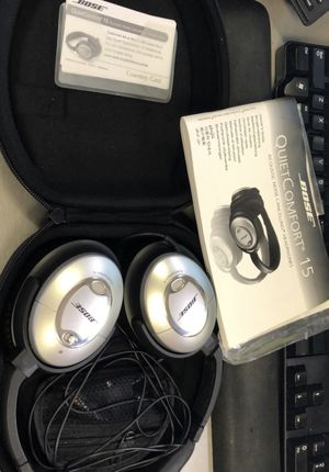 Bose Quiet Comfort 15 headphones for Sale in Houston, TX