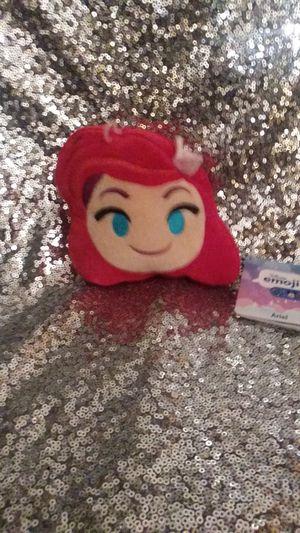 "DISNEY EMOJI Plush ARIEL Little MERMAID Reversible Small 5"" NWT for Sale in Saint Albans, WV"