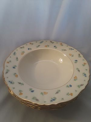 Set of 4 Federal Shape Syracuse Suzzane Antique China Soup Bowls Mint for Sale in Chandler, AZ