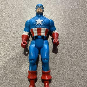 Vintage Toy Biz Captain America Action Figure Marvel Avengers Superheroes 1990 for Sale in Houston, TX