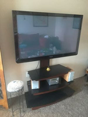 Panasonic TV with TV stand for Sale in Salt Lake City, UT