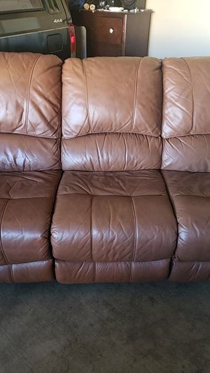 Leather reclining couch for Sale in Surprise, AZ