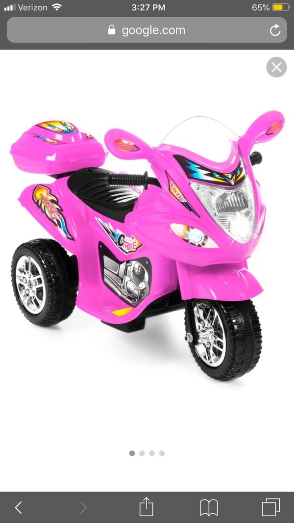 Best Choice Products 6V Kids Battery Powered 3-Wheel Motorcycle Ride-On Toy w/ LED Lights, Music, Horn, Storage - Pink