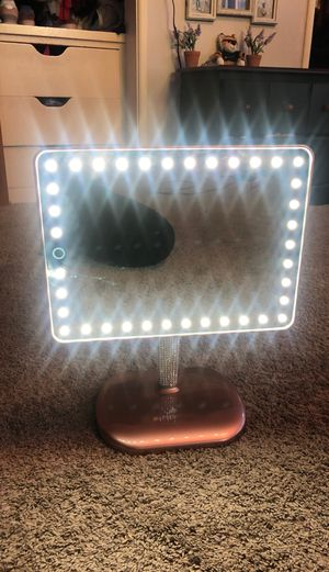 Impressions Vanity Touch Pro LED Makeup Mirror with Wireless Bluetooth Audio + Speakerphone & USB Charger (BrittanyBear Rose Gold Bling Edition) for Sale in Stockton, CA