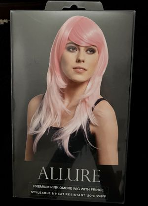 New Allure Premium Pink Ombre Wig with Fringe Heatable Styleable for Sale in Corona, CA