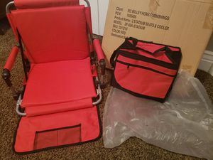 2 NEW Stadium Chairs w/ Matching Cooler for Sale in West Jordan, UT
