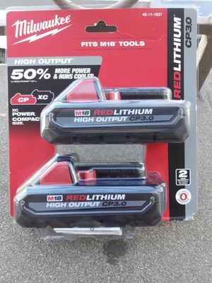MILWAUKEE M18 REDLITHIUM HIGH OUTPUT CP3. 0AH (2-PACK) BATTERIES for Sale in Los Angeles, CA