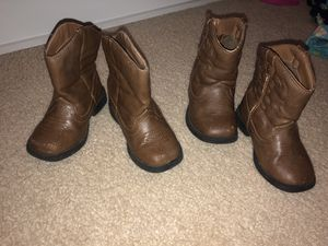 Boy/Girl Twin marching Cowboy/Cowgirl boots Size 6 toddler for Sale in Leander, TX