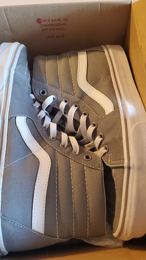 Vans gray high tops for Sale in Pell Lake, WI