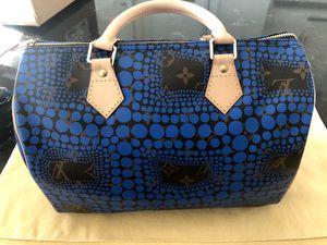 NEW LOUIS VUITTON YAYOI KUSAMA France SPEEDY BAG BLUE BLACK for Sale in Palm Desert, CA