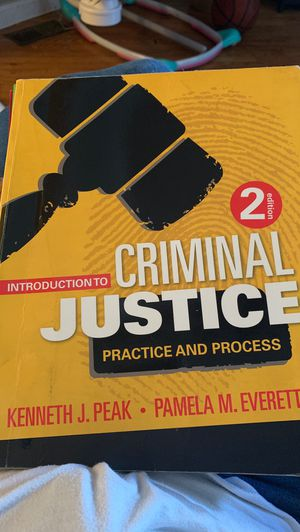 Introduction to Criminal Justice for Sale in Philadelphia, PA