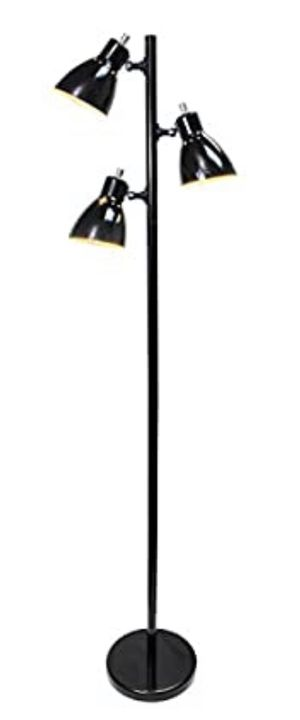 Simple Designs Home LF2007-BLK Simple Designs, Black Metal 3-Light Tree Floor Lamp, Finish for Sale in Los Angeles, CA