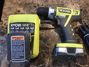 Ryobi 12 v drill for Sale in St. Louis, MO