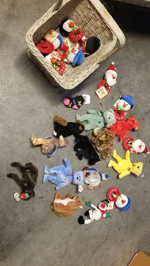 20 beanie babies and xmas rattles all brand new with tags for Sale in Phoenix, AZ