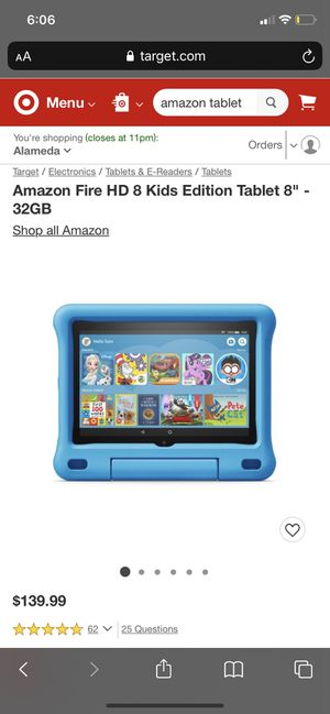 Amazon Fire HD kid edition Tablet for Sale in Oakland, CA