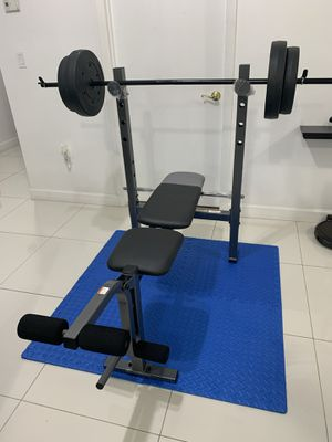 Bench and rack combo weights 100 lb for Sale in Hialeah, FL