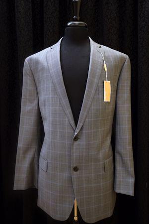 Michael Kors Light Gray/Light Blue Plaid Jacket + Pants for Sale in Puyallup, WA