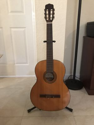 Acoustic Guitar with case and stand for Sale in Cutler Bay, FL
