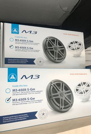 """JL AUDIO MARINE SPEAKERS M3 650x S GW sports grill design grille gloss white high Performance sound 6.5"""" 6.5 inch marine 🚤🚤 for Sale in Redondo Beach, CA"""