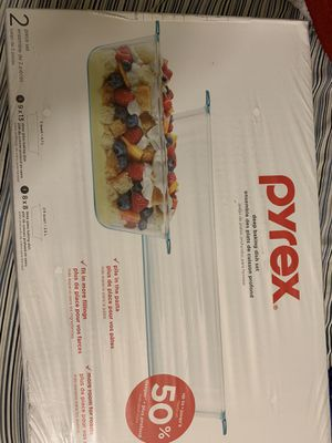Pyrex 2 piece deep baking dish set for Sale in Brooklyn, NY