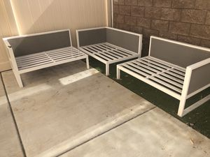 Patio Sectional Modern Gray and White for Sale in Long Beach, CA