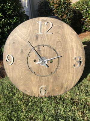 Antique custom farmhouse wooden clock for Sale in Marietta, GA