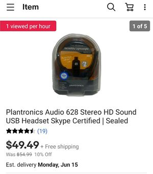 Plantronics Corded Headset with USB for Sale in Jeffersonville, IN