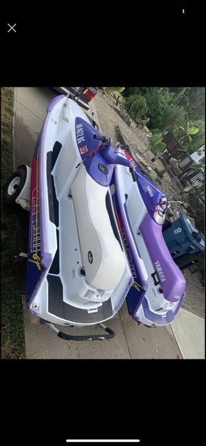2 Yamaha wave runners and trailer for Sale in Medina, OH