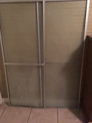 Glass shower doors with track and hardware for Sale in Milan, GA