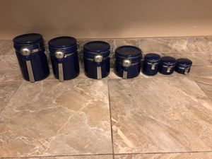 7 matching kitchen storage containers for Sale in San Diego, CA