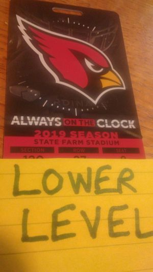 Lower Center Field Level Browns Arizona Cardinals 2 Together with Parking pass option for Sale in Goodyear, AZ