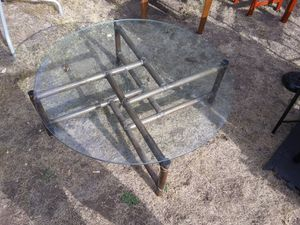 Bamboo table glass top for Sale in Colorado Springs, CO