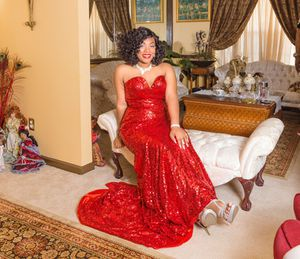 Red Sparkle prom dress for Sale in Lithonia, GA
