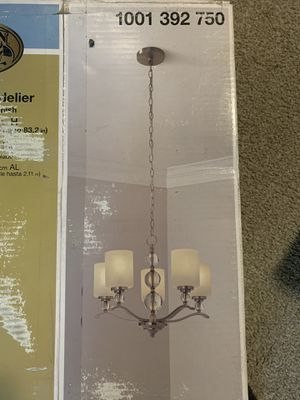 Hampton bay 5 lights chandelier brushed nickel finish for Sale in Wheat Ridge, CO