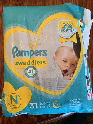 Newborn Diapers 31 Ct for Sale in Fresno, CA