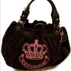 Juicy Couture Black and Pink Velour Bag for Sale in Harrison, NY