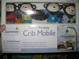 Summer Infant Team Monkey Crib Mobile for Sale in Traverse City, MI