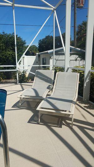 Pool chairs aluminum for Sale in Sebastian, FL