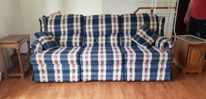 Dark Red , Ivory and Navy Blue Double Recliner Couch for Sale in Williamsport, PA