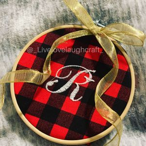 Embroidery Hoop Christmas Ornament for Sale in Chino Hills, CA