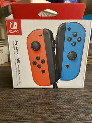 Nintendo switch controller (neon red/neon blue joy cons) for Sale in Orland Park, IL