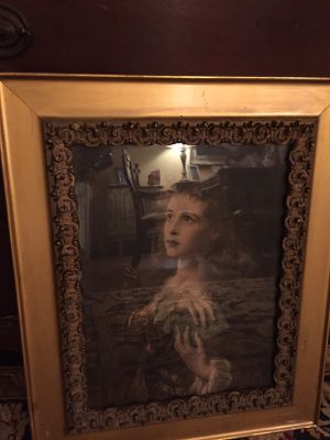 20x24 mysterious lady framed picture in beautiful frame. Very nice art in glass and frame. 40.00. 212 north Main Street. Buda is for Sale in Austin, TX